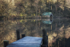 Loch Ard Boathouse (Katherine Fotheringham) Tags: loch ard boathouse scotland jetty reflections