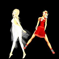 TerraMerhyem_&_Aicha_2016_10 (TerraMerhyem) Tags: femme woman women girl mode fashion belle beauté beauty elegante elegance deux duo two rouge blanc white red femmes jolie mannequin model topmodel terramerhyem merhyem sexy