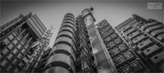 Lloyds Of London.... (ziggystardust111) Tags: lloydsoflondon building shapes patterns london blackandwhite