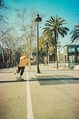 (Hugo Bernatas) Tags: skateboard film 35mm analog vans skateboarding color canon kodak spain travel barcelona street