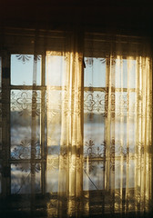 saturday morning (Vladimir Volodarzky) Tags: outdoor saint petersburg winter snow 2017 2010s road sidewalk alley art nature light house old city nikon film kodak gold russia design red nikkor