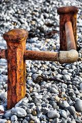 Sea Worn (Gary Baldy) Tags: handrail posts rust pebbles beach freshwaterbay isleofwight pentaxk3 sigma18250mmmacro