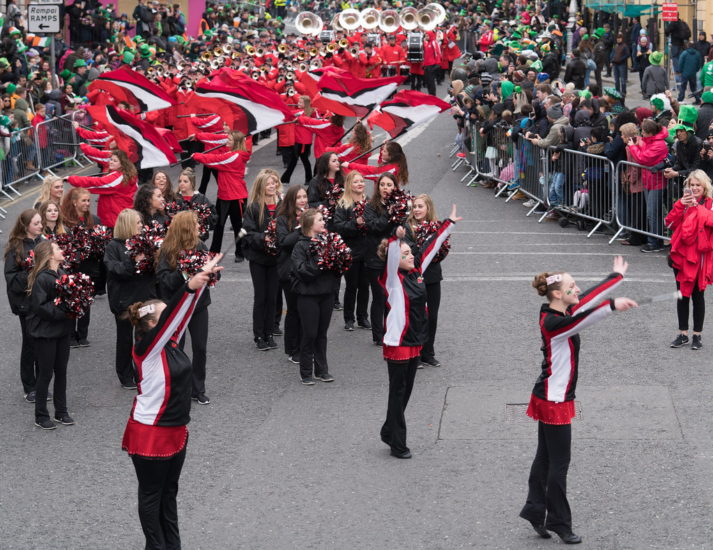 Illinois State University's Big Red Marching Machine [St. Patricks Parade 2017]-125842