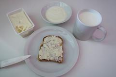 White breakfast (Alfredo Liverani) Tags: project project2017 0652017 project365 oneaday photoaday pictureaday project365065 project365030617 project36506mar17 2017pad odcdailychallenge odc daily challenge morewhite canong5x canon g5x milk latte yogurt stracchino toast food