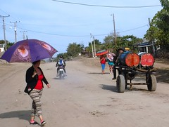 Water cart at end of pavement traveling east (Hear and Their) Tags: fray benito holguin province cuba water cart