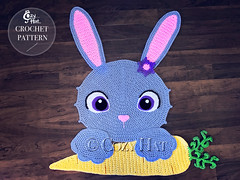 Bella the Bunny Rug Crochet Pattern by Cozy Hat #bunny #rabbit #bunnies #crochetpattern #crochet #pattern #easterbunny #easter (Anastasia wiley) Tags: bunny rug crochet pattern cozyhat cozy hat anastasia wiley kids room decor nursery baby shower gift