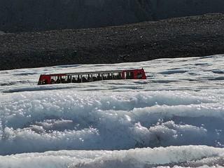 Tourists - Athabasca Glacier, Jasper National Park, Alberta, CA