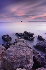 Small Ship (kendasatya) Tags: borneo kalimantan balikpapan nature seascape landscape bali indonesia beach longexposure sunset