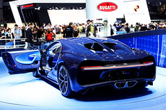 Blue Carbon (Reece Garside | Photography) Tags: bugatti chiron bugattichiron french supercar summer spotter car canon canon6d 6d hypercar history rare blue carbon geneva geneva2017 motorshow switzerland
