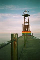 The rainbow of the end (pabs35) Tags: film believeinfilm pointandshoot canon snappy qt expiredfilm kodak gold 200 gold200 pier lakemichigan chicago pride