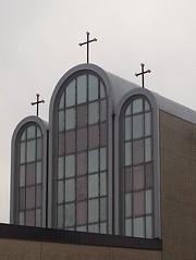 Holy Family Ukrainian Catholic Church (canadianlookin) Tags: holyfamily ukrainiancatholic church cross steeple winnipeg march