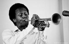Jason Palmer, Newport Jazz Festival, Newport, Rhode Island (jackman on jazz) Tags: alanjackman jackmanonjazz nikon d7000 nikkor 55300mm jazz music festival happynewyear 2015 concert trumpet horn brass blackwhite andwhite dslr black