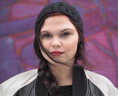 Kati (jeffcbowen) Tags: kati street stranger estonia toronto portrait thehumanfamily student musician
