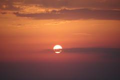 Dream Warmer (GEORGE TSIMTSIMIS) Tags: sun sunset warm dream sky clouds sea red yellow pentax pentaxk3 ricohimaging horizon teleohoto atmospheric art palecolours westerngreece