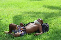 knocked out (Chuck Diesel) Tags: miami oldman sleepy tired southbeach oceandrive sleepinginpublic whitebeard