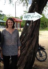 Nicola Harford at MRTV in Burma