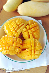 DSC_1438 s (travellingfoodies) Tags: mint mango yoghurt gelatine passionfruit cremefraiche mangue fruitdelapassion fullcream  mangoandpassionfruityoghurtpudding