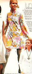 pennys 69 ss floral mini dress (jsbuttons) Tags: 1969 floral clothing mod 60s buttons womens catalog 69 sixties pennys jcpenny vintagefashion buttonfrontdress