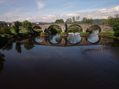 Bridge in Stirling (forthvalley) Tags: bridge summer reflection water reflections river scotland stirling bluesky hotweather niceday flickrandroidapp:filter=none