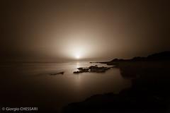 Sunset Punta Braccetto (Giorgio Chessari) Tags: sunset italia tramonto 09 gradient punta reverse sicilia seppiato braccetto puntabraccetto prostop