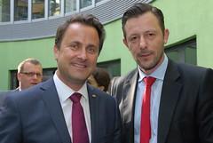 Xavier Bettel (Luxemburgischer Premierminister) & Louis Lang (Recarbon)