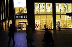 Forever 21 (fleeting glimpse2009) Tags: city people night liverpool lights emotion 21 merseyside