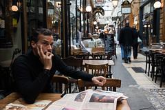 Le nouvel observateur (grapfapan) Tags: street people paris france newspaper journal passages