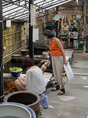 (kasa51) Tags: street people japan tokyo fishing candid goldfishpond