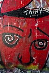 Think (Joseph Austin) Tags: art painting graffiti edmonton ab crime alberta spraypaint graff artsyfartsy wallpaintings vandalize highlevelbridge