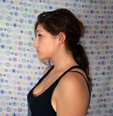profile (jennylzavala) Tags: portrait selfportrait girl self hair nose profile ponytail sideview timer eyeliner selftimer
