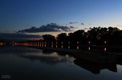Regatta venue (Doni Filipov) Tags: sunset shadow sky nature water night clouds canon river lens landscape photography lights boat cityscape bulgaria rowing regatta venue plovdiv