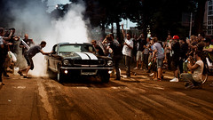 Rubber Burnin Mustang at Power big meet (Subdive) Tags: ford mustang powerbigmeet