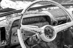 The Kyrkö mosse junk yard 9/12 (Ole Houen) Tags: old bw car yard canon vintage eos blackwhite junk sweden iii 5d wreck mk mosse ef24105mmf4lisusm kyrkö olehouen