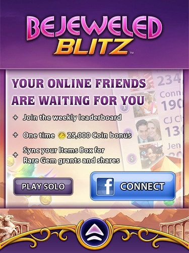 Bejeweled Blitz Login: screenshots, UI