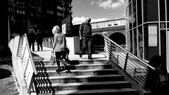 Pedestrian Footbridge - Leeds (James W Bell (Good Honest Iago) - Leeds) Tags: public streetphotography unposed