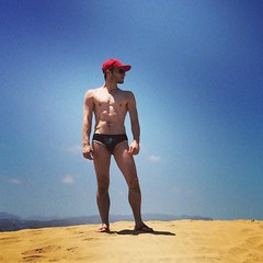 Dune! #grancanaria #gaybeach #kiosk7 #andrewchristian #swimwear (ashlibean) Tags: grancanaria dune swimwear gaybeach andrewchristian kiosk7
