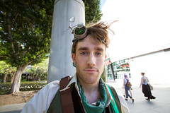 Up Close and Anime Expo (Greg P Photography (CoolGuyGreg)) Tags: anime los punk angle expo angeles cosplay guitar wide steam link zelda 2014