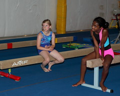 _MG_7161 (abelow) Tags: girls girl flash gymnastics balancebeam canon2470lens kidsnmotion canon5dmarkll middlewaywv