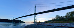 Lions Gate Bridge Panorma 2014 (Gord McKenna) Tags: ocean bridge sunset panorama canada english beach vancouver bay highway gate bc stitch pacific pano north engineering columbia civil lions inlet british burrard gord gravel mckenna gordmckenna