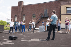 UAV TechTalk: Live Demo! (juhansonin) Tags: roof rooftop arlington studio fun demo design fly flying control object ui engineering software remote gps phantom fabulous studios uav rc ux techtalk danieldrucker involution juhansonin invo quadcopter
