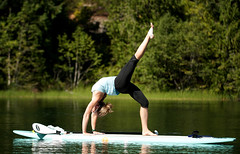 paddle_068 (David_Buzzard) Tags: woman canada sports sport yoga relax whistler britishcolumbia stretch resort northamerica leisure relaxation relaxed stretching pacificrim seatosky westerncanada paddleboard