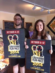 They once again have Louisiana Film Prize yard signs at Rhino Coffee. Caffeine up, grab a placard and REPRESENT!