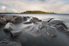 Boulders - Hammar sydspets (- David Olsson -) Tags: longexposure summer lake seascape nature water clouds landscape island nikon rocks afternoon cloudy sweden outdoor stones smooth august cliffs boulders le fx grad vr vnern sommar d800 hammar augusti vrmland 2014 1635 ndfilter blackglass 1635mm lakescape gnd leefilters lenr takene bigstopper davidolsson hammarsydspets 06hard 1635vr