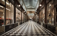 Old shopping Passage in Paris (hebiflux) Tags: paris shopping painting experiment passage hdr famousplaces 500px ifttt