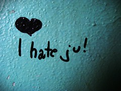 On the wall (merlots) Tags: blue love wall writing heart wand hate iloveyou write script blau pismo schrift remorse cor herz ihateyou inschrift napis serce gewissensbisse