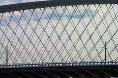 Trojský most (kaddafi210) Tags: new bridge sky detail architecture modern vintage river design construction prague steel samsung prag troja praha most m42 czechrepublic pentacon 28135 newbridge vltava holesovice vintagelens oldlens pentacon13528 pentacon28135 nx210 trojskymost