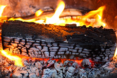 End Up Blind & Burning (minna-L) Tags: wood summer june canon suomi finland fire flames grill burning charred 60d