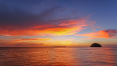 Afterglow|Mantanani Islands Malaysia (TommyYeung) Tags: ocean sunset sky colour island cloudy malaysia cebu afterglow mantananiislands