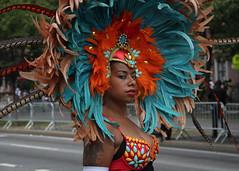 West Indian Day Parade (slightheadache) Tags: 2014 brooklyn carnival celebration laborday mas masquerade nyc newyork newyorkcity parade party westindian westindiandayparade woman portrait feathers masquerader beauty beautiful