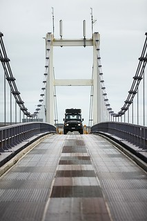 Jeep on bridge